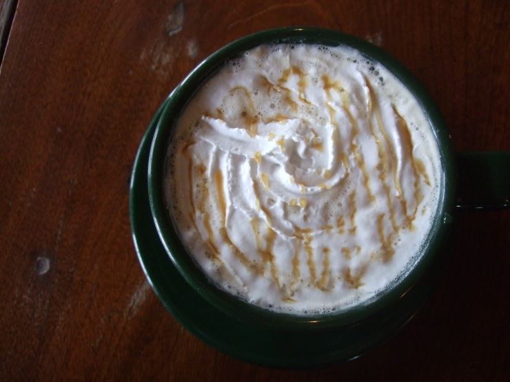 Hand-crafted caramel apple latte, St. Thomas Coffee Roasters, October 2012