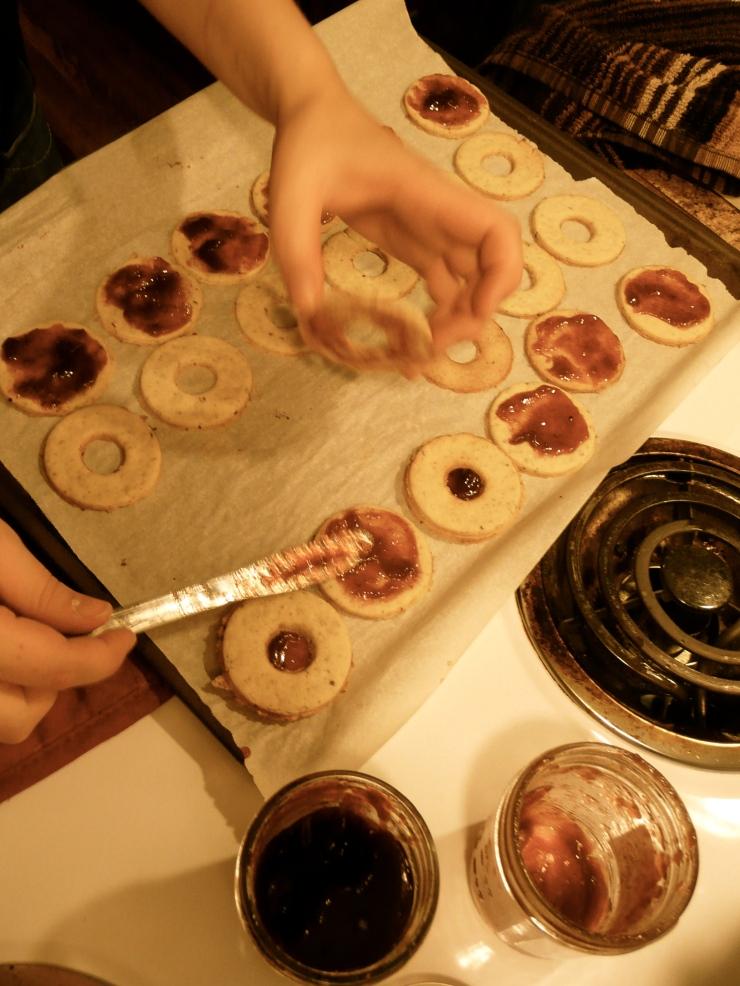 Traditional spitzbuben cookies, December 2010