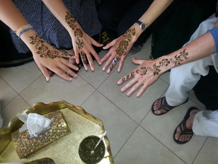 henna time at Sprachcaffe Rabat, Morocco, May 2014