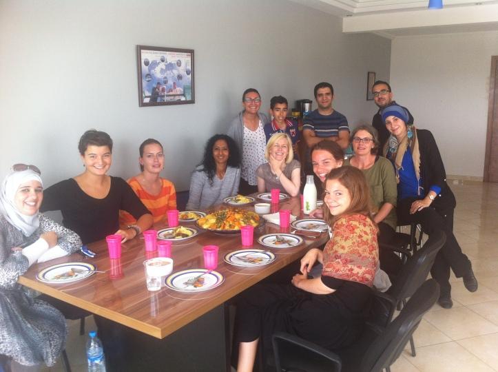 Couscous time at Sprachcaffe Rabat language school 06/17/2014