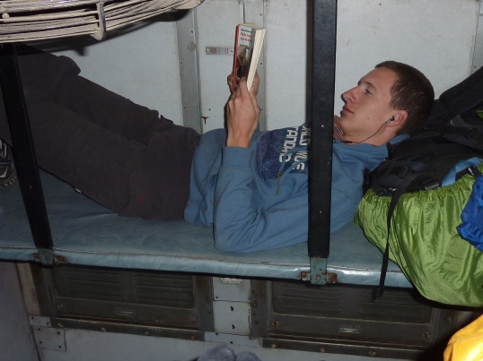 Wesley on a night train through India (2010-2011)